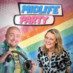 Logo vom Podcast Midlife Party mit Jürgen Bangert und Lisa Feller